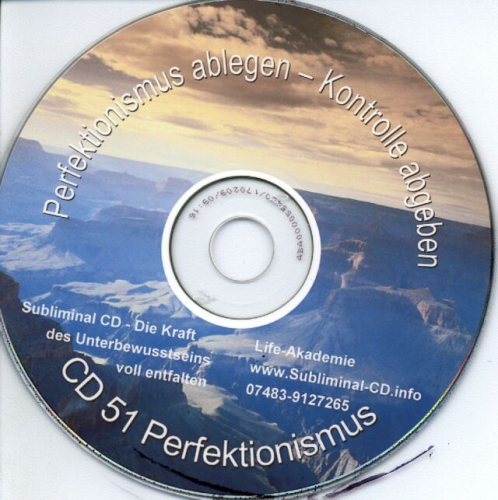 Subliminal CD Perfektionismus ablegen
