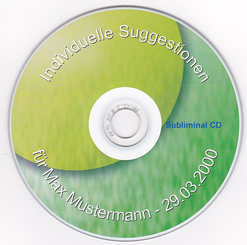 Individuelle personalisierte Subliminal CD