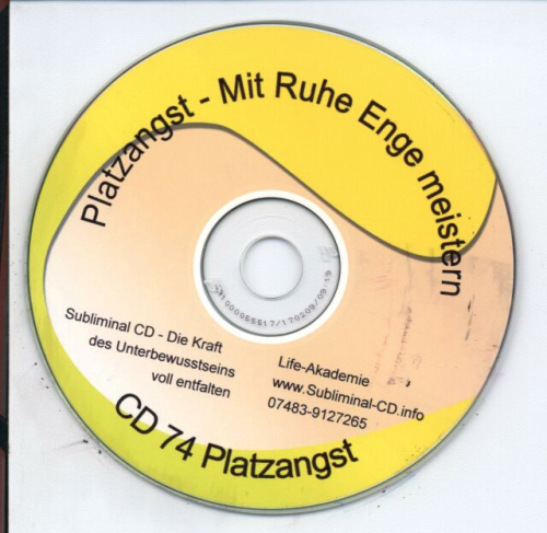 Subliminal CD Platzangst für beengte Situationen