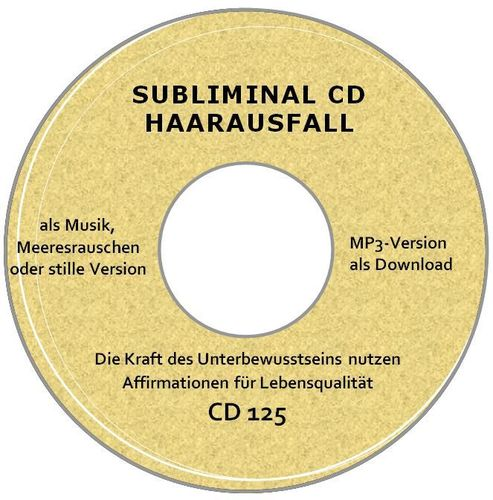 Subliminal MP3 Haarausfall lindern