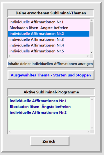 Subliminal-Basis-App für Linux